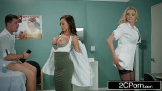 dick stuck in fleshlight doctors briana banks and nikki benz give hand