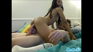 sexy black teen latina getting fucked hard by white dude and taking facial