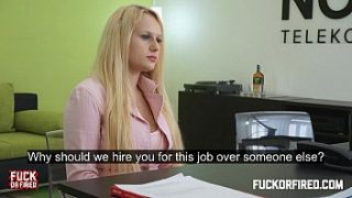 she wants a job and likes it up her ass