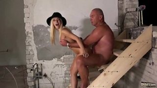Teen Blonde Fucks Old Boss!