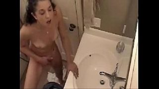time to fingering in bathroom hidden cam catches my sister