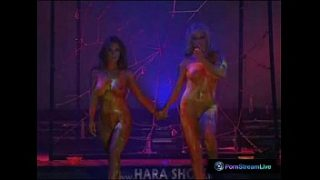 Dorothy Black and Ginger Jones performs naked on the stage