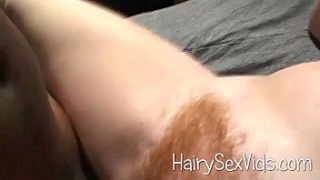 Kinky red hairy pussy interracial