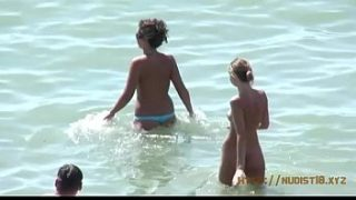 Teeny girls have fun at the nude beach summer memories never published